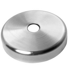 Deutsche Metall afdek rosette geslepen V2A - binnendia 12 mm