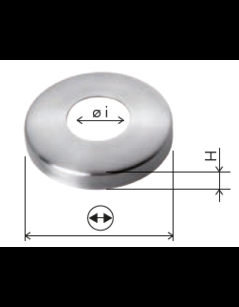Deutsche Metall afdek rosette geslepen V2A