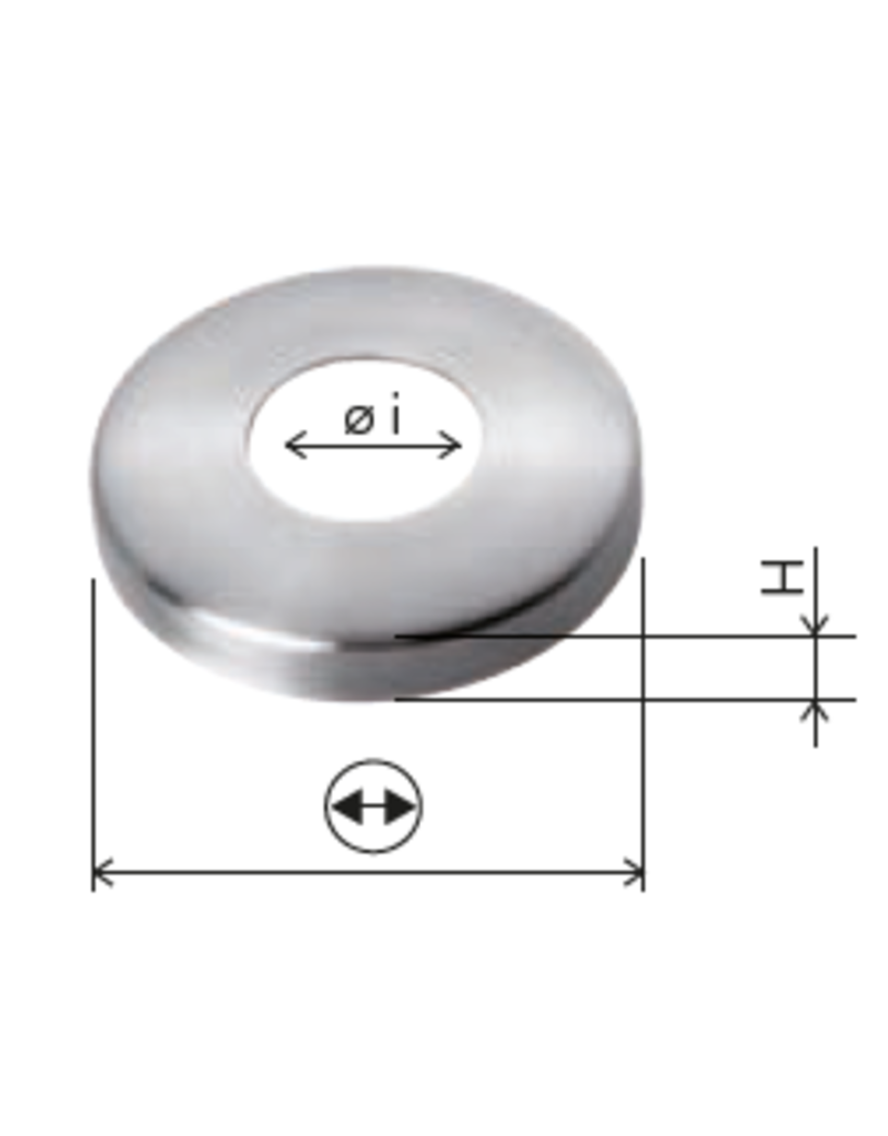 Deutsche Metall Rosaçe poli V2A