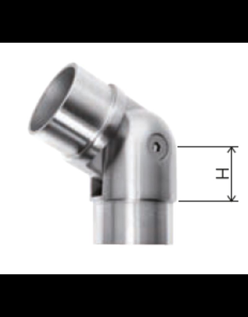Deutsche Metall Verbindingsstuk verstelbaar geslepen V2A - V4A