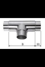 Deutsche Metall Verbindingsstuk geslepen T V2A - V4A