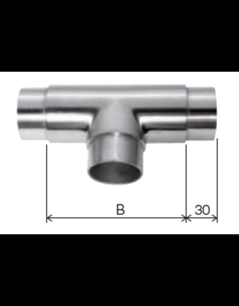 Deutsche Metall Verbindingsstuk geslepen T V2A of V4A