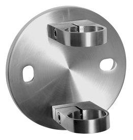 Deutsche Metall wandbevestiging V2A voor ronde buis 42.4mm