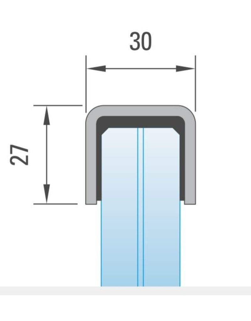 Handleuning 30x27mm V2A - 3000mm