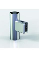 Pauli & Sohn glasklem V2A- 48x45x27mm voor glas 8 - 8.76mm/ rubbers inclusief