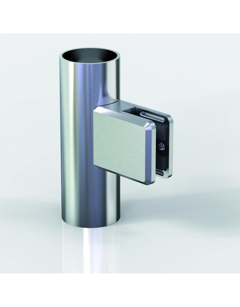 Pauli & Sohn glasklem V2A- 48x45x27mm voor glas 12 - 12.76mm/ rubbers inclusief