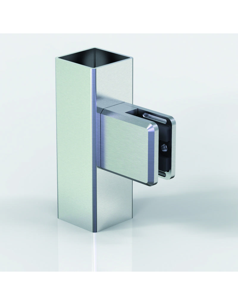Pauli & Sohn glasklem zink - 48x45x27mm voor glas 8- 8.76mm/ rubbers inclusief