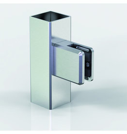 Pauli & Sohn glasklem zink  48x45x27mm vlakke buis
