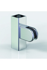 Pauli & Sohn glasklem V2A - 63x45x28mm voor glas 8 - 8.76mm / rubbers inclusief