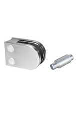 Rinox glasklem V2A - 63x45mm voor glas 6 - 6.76mm met zekerheidspin