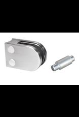 Rinox glasklem V2A  63x45mm voor glas 12 - 12.76mm met zekerheidspin