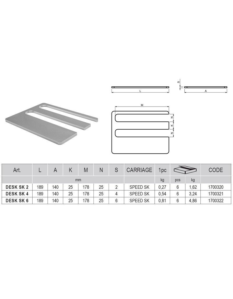 CAIS DESK S/SE/SK - Wiggen voor wielenblok