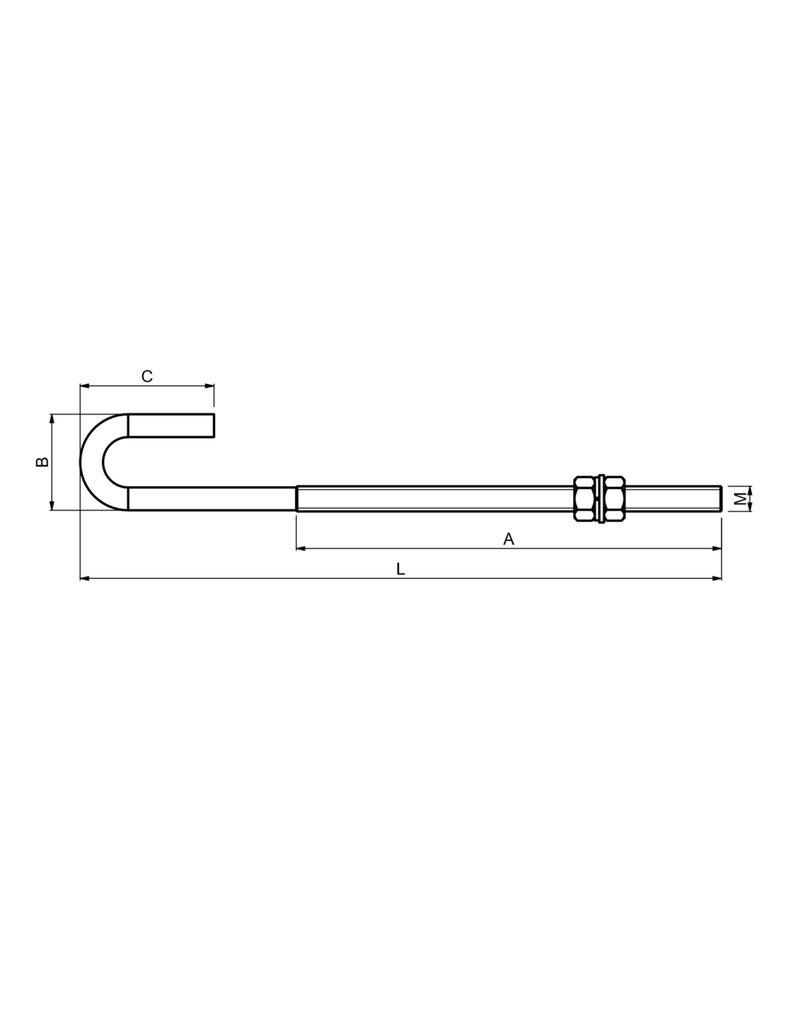 CAIS CLINCH 16 - Bevestigingsstang voor wielenblok