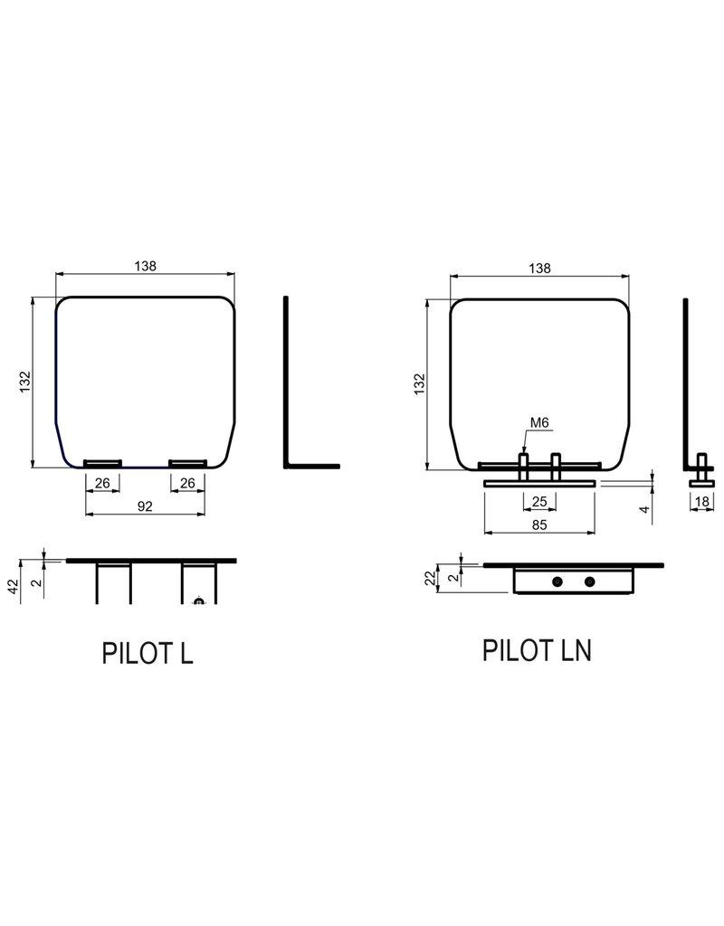CAIS PILOT L - Cache d'embout de guide avec vis