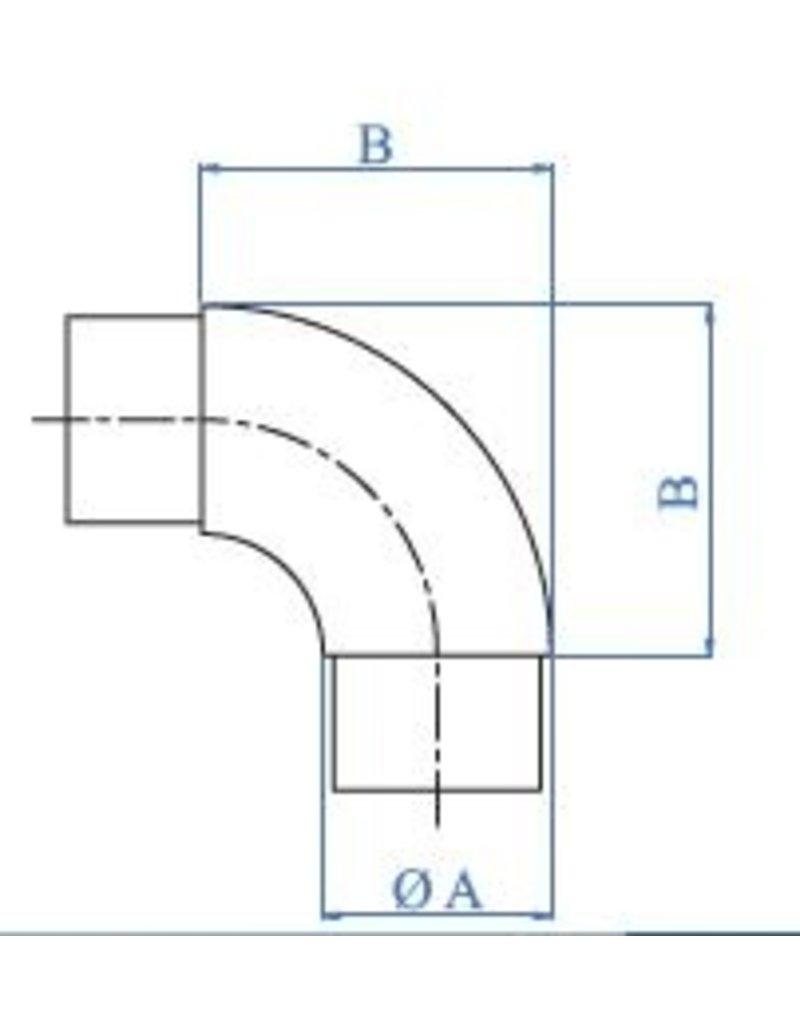 Triebenbacher Verbindingsstuk geslepen  K320 V2A - V4A