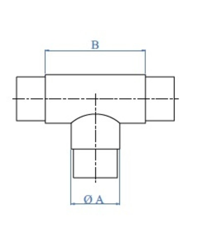 Triebenbacher Raccord poli T V2A
