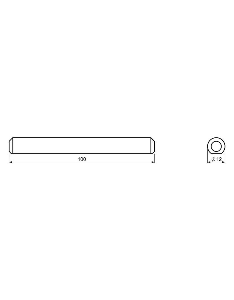 CAIS PIN TRAIL - verbindingspin voor V rail voor schuifpoorten