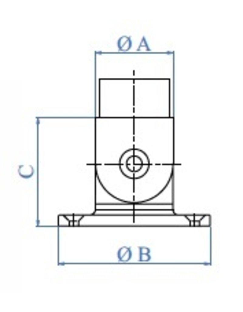 Triebenbacher Pièce mural poli réglable 0°-70° V2A  G320
