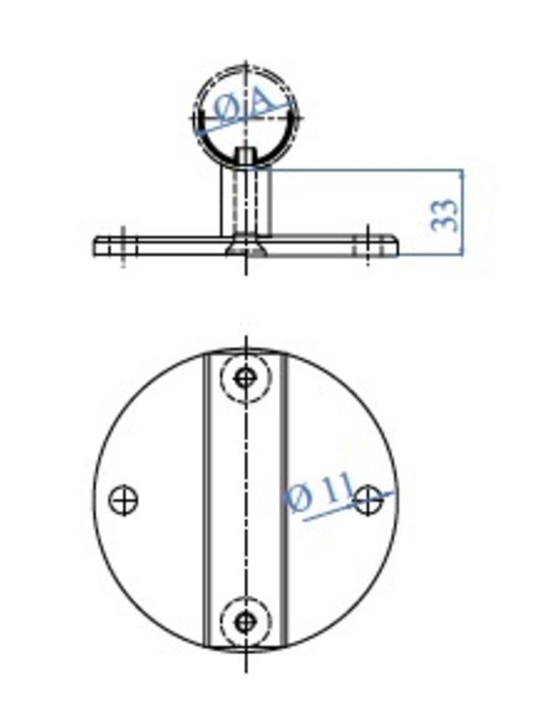 Triebenbacher Wandbevestiging  V2A
