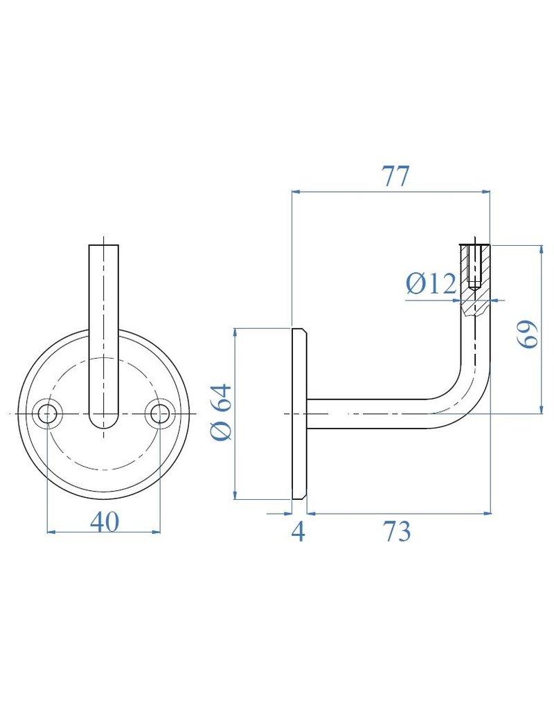 I AM Design Leuningdrager RVS schroefmodel