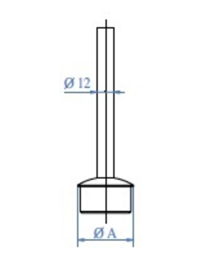 Triebenbacher Support main courante V2A modèle de soudage - 33.7 / 42.4mm