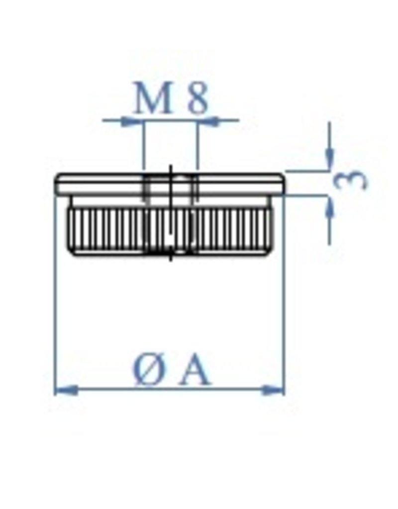 I AM Design Einddop massief vlak - M8