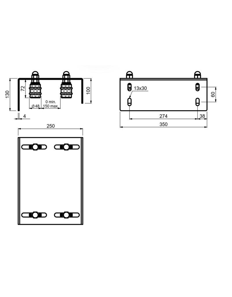 CAIS SFG 4M - plaque de guidage à quitre rouleaux réglables