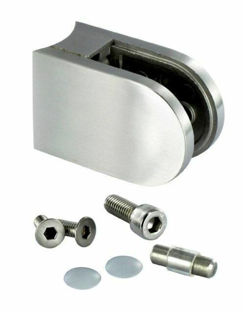 glasklem ZINK RVSlook model 24 - 63x45x30mm voor glas 6 - 6.76mm