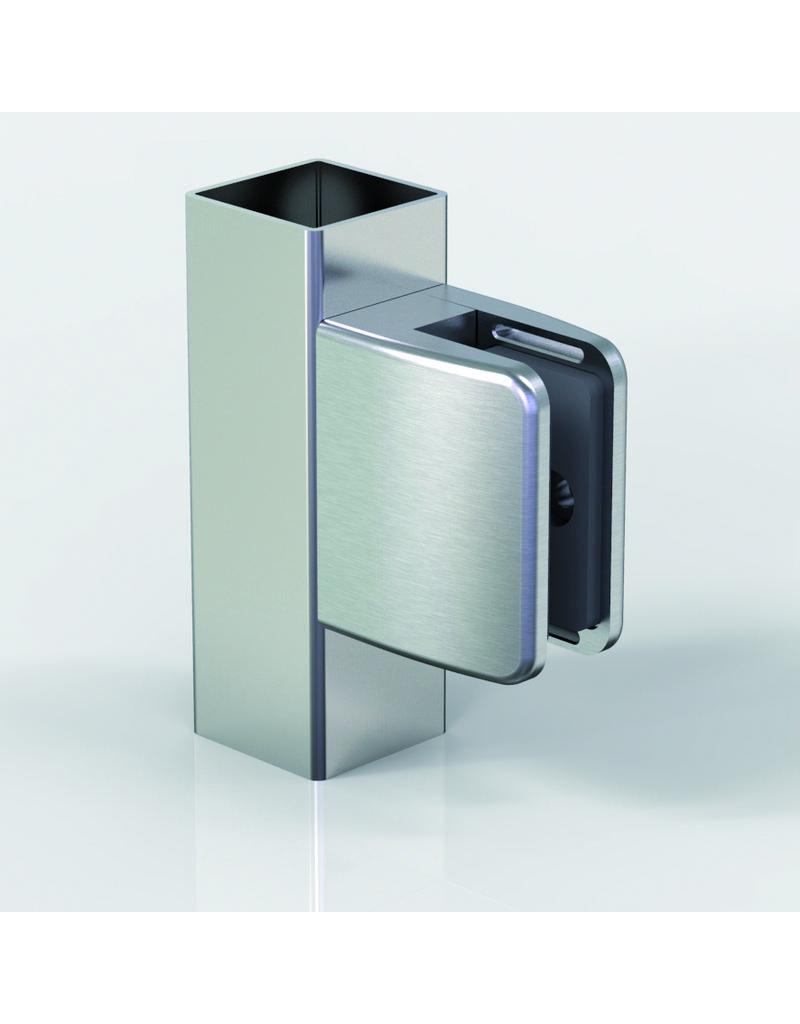 Pauli & Sohn glasklem zink - 55x67x40mm voor glas 16.76mm/ rubbers inclusief