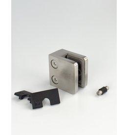 Rinox glasklem V2A 45x45mm vlakke buis