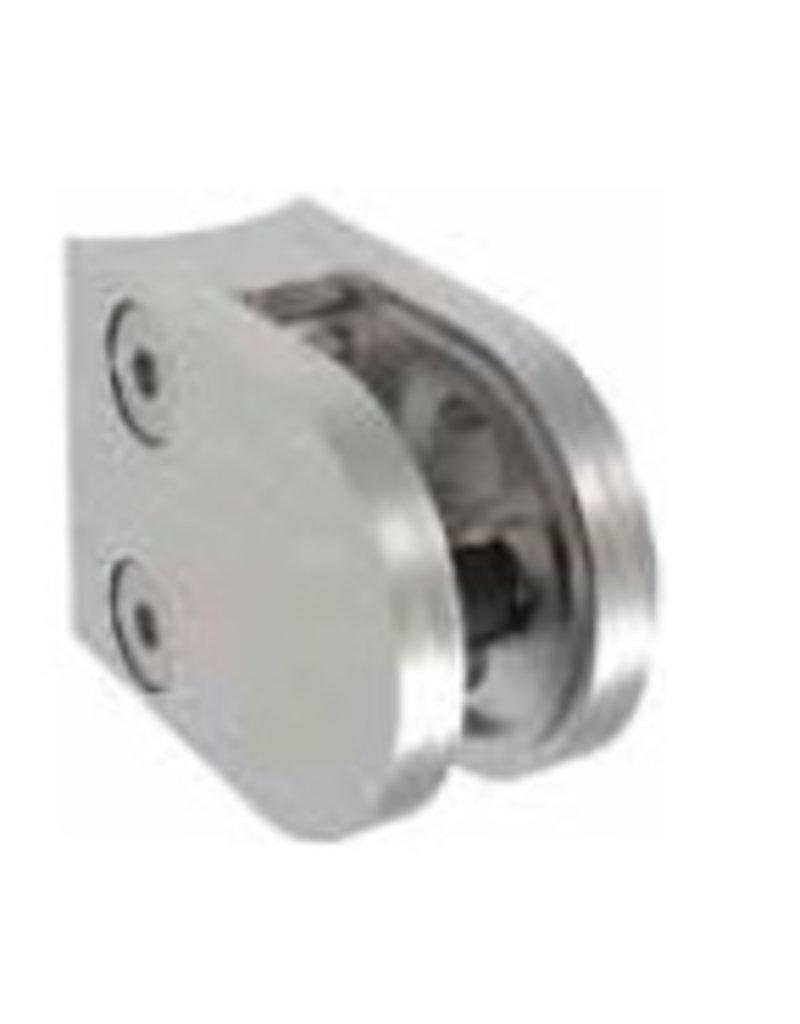glasklem V2A  50x40mm voor plaatdikte 1.5 - 3mm met zekerheidspin