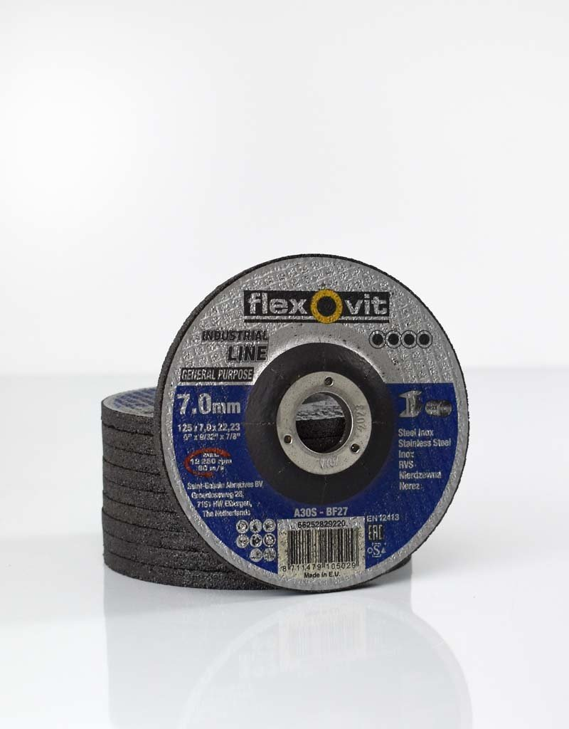 Flexovit Afbraamschijf general purpose staal - inox 125x7x22.23mm