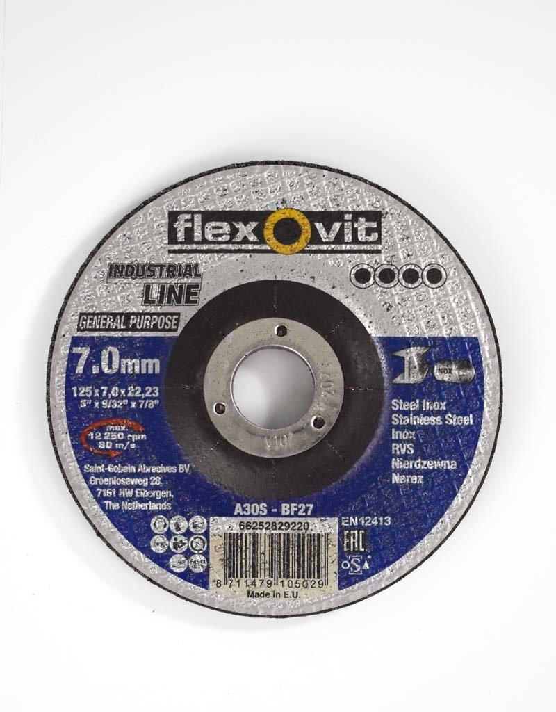 Flexovit Disque à meuler general purpose acier - inox 125x7x22.23mm