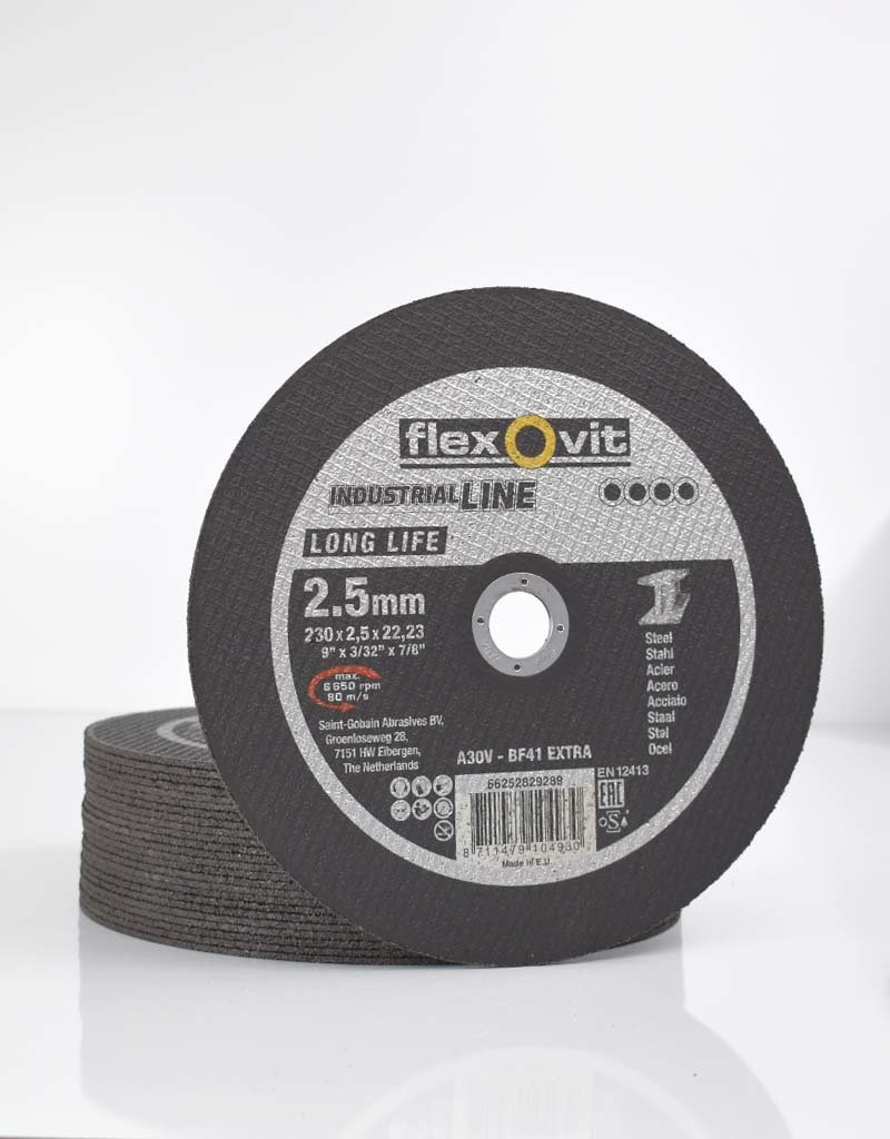 Flexovit Doorslijpschijf long life staal 230x2.5mm