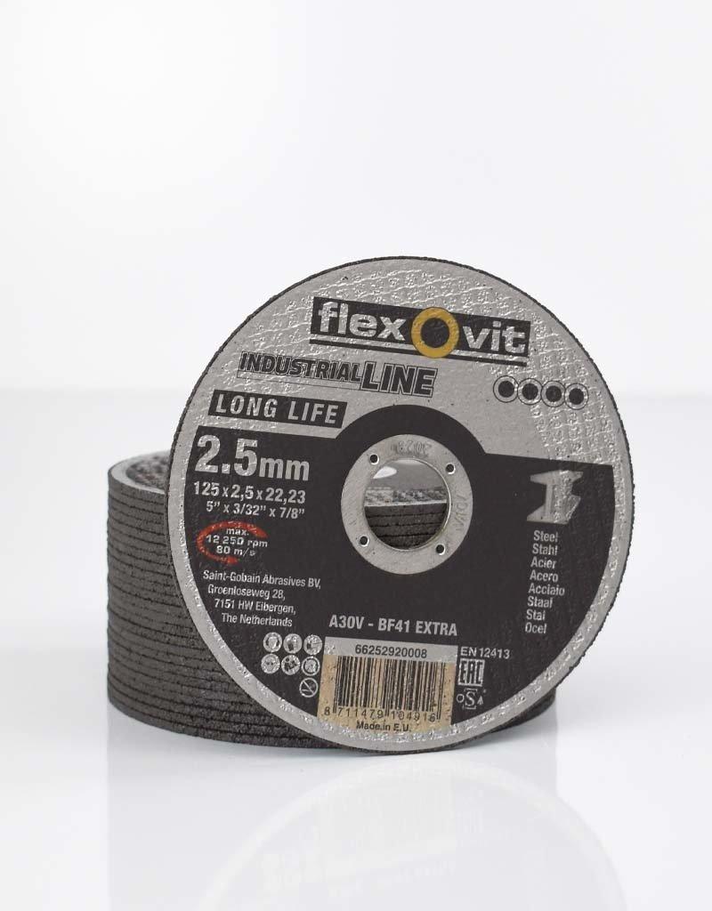Flexovit Disque à tronçonner long life acier 125x2.5mm
