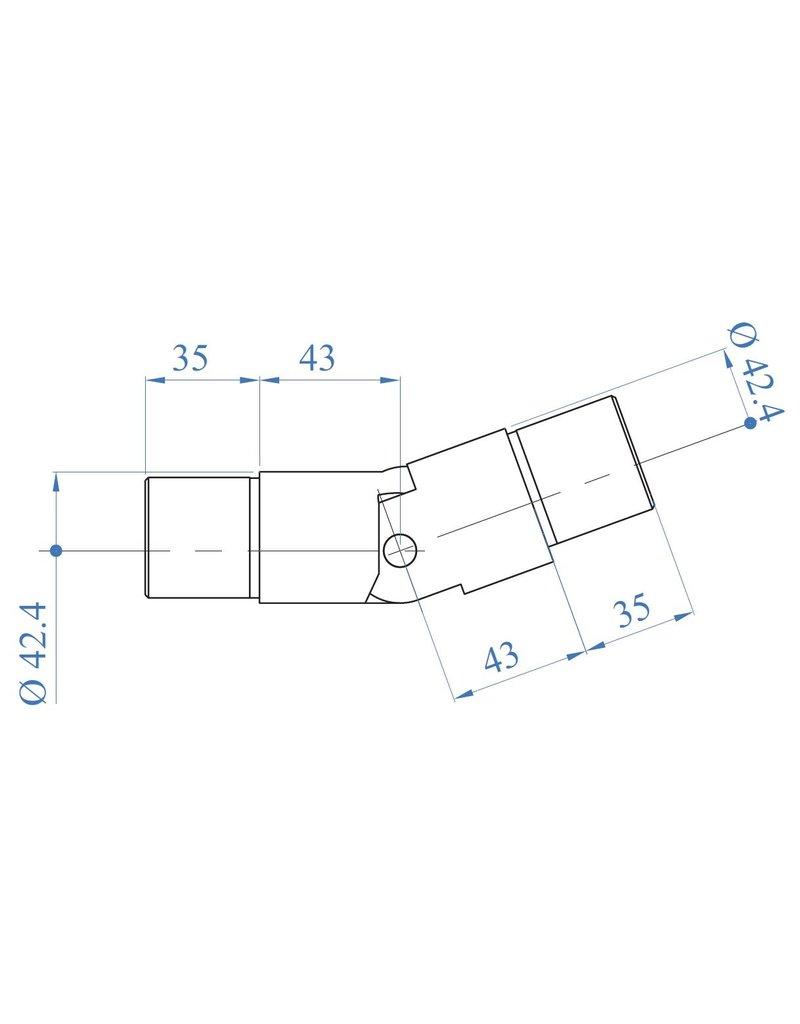 I AM Design Connecteur pour tube LED - 25°-55° vers le haut