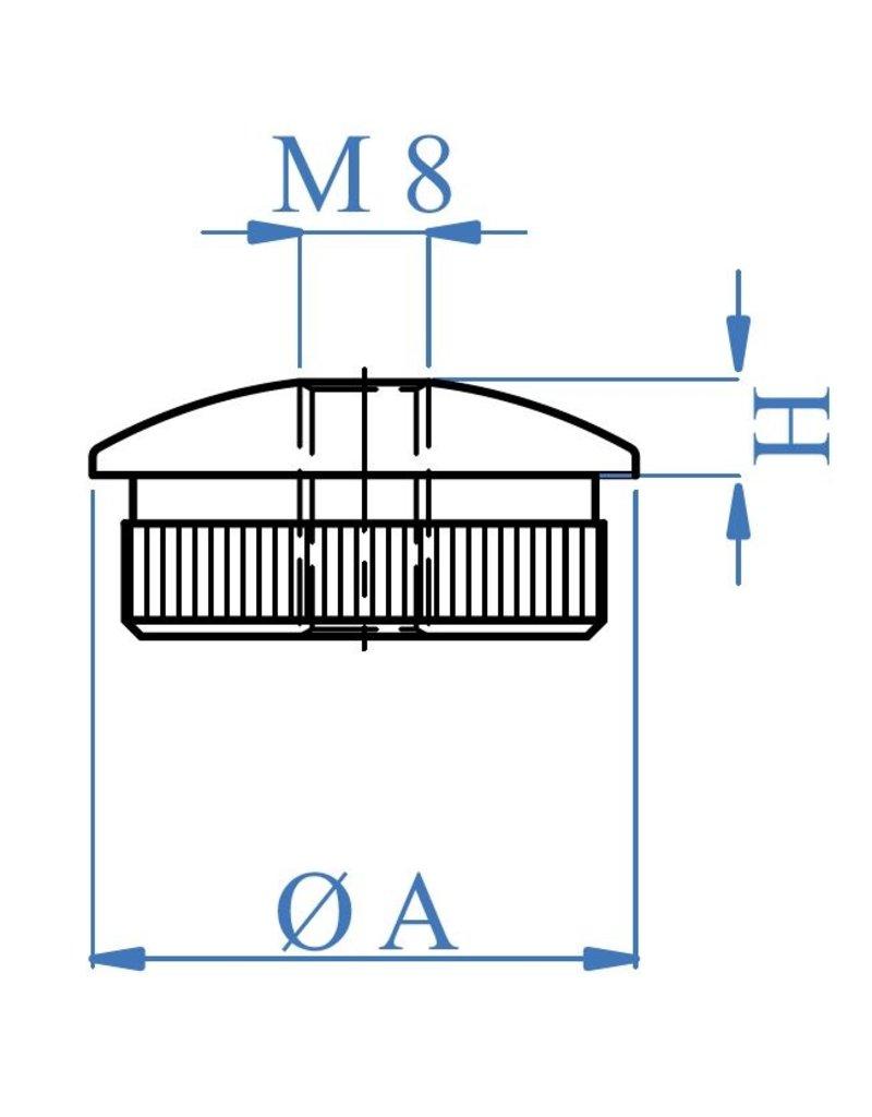 I AM Design Bouchon massif oval - M8