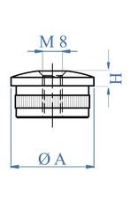 I AM Design Bouchon creux oval - M8