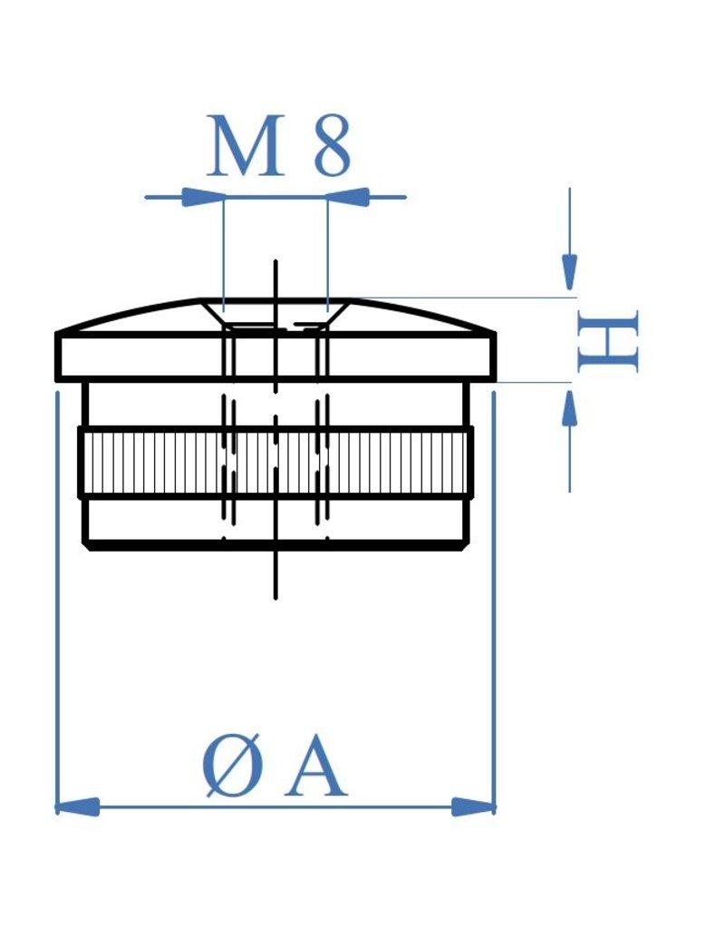 I AM Design Einddop hol ovaal - M8