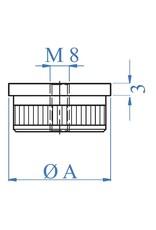 I AM Design Einddop hol vlak - M8