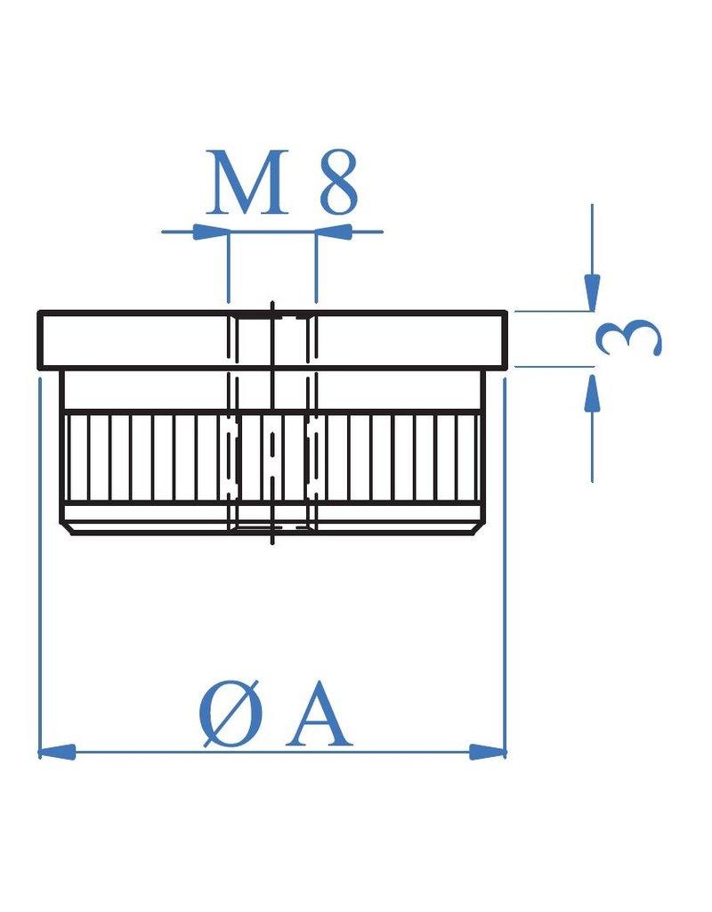 I AM Design Bouchon creux plat - M8