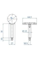 I AM Design Leuningdrager RVS met schelp voor ronde buis 33.7-42.4mm