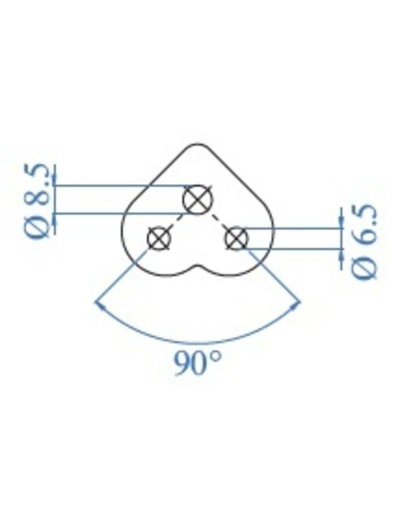 I AM Design Platine de montage 90° poli V2A