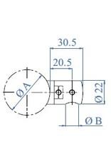 I AM Design Afstandshouder links / rechts V2A voor ronde buis 42.4mm