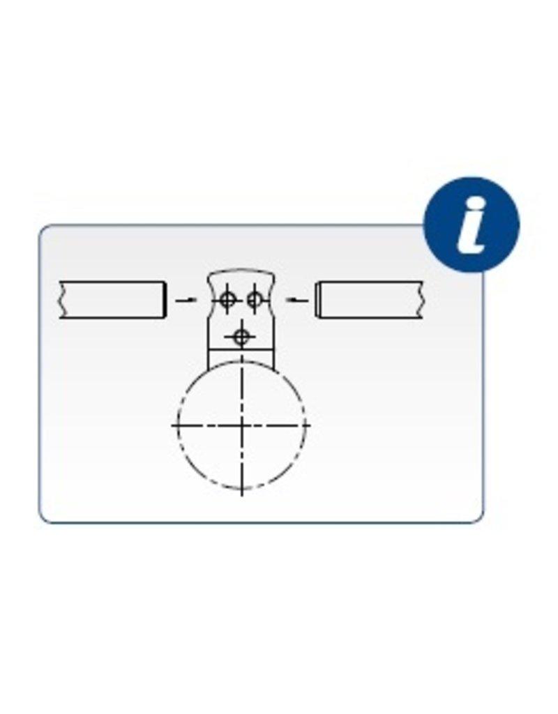 I AM Design Afstandshouder doorboord V2A passend op buis Ø42.4mm
