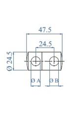 I AM Design support sous-lisse double V2A