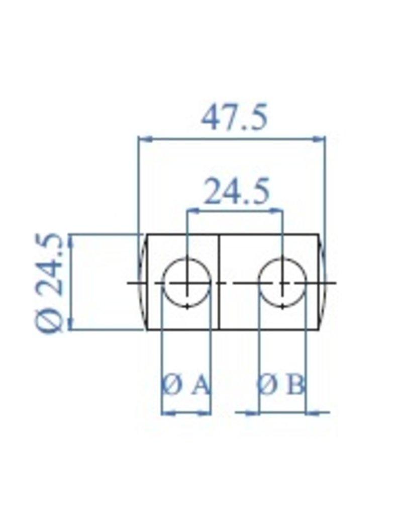 I AM Design Dubbele afstandshouder doorboord V2A