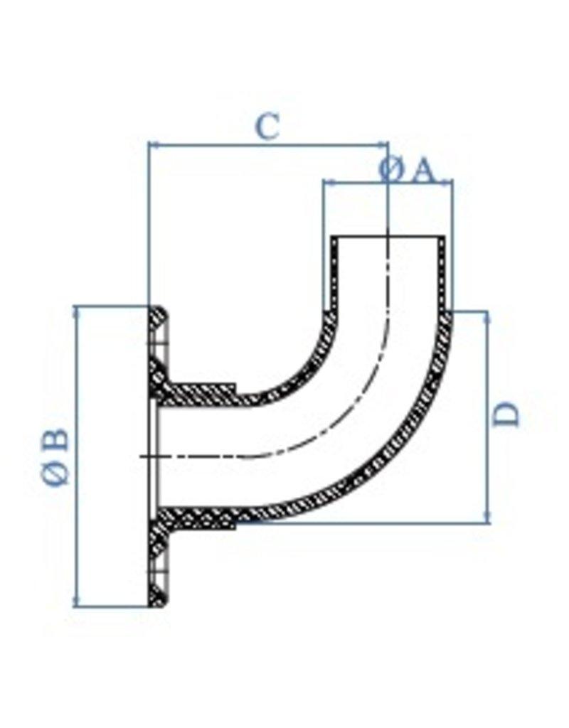 I AM Design Wandstuk geslepen V2A  korrel 320