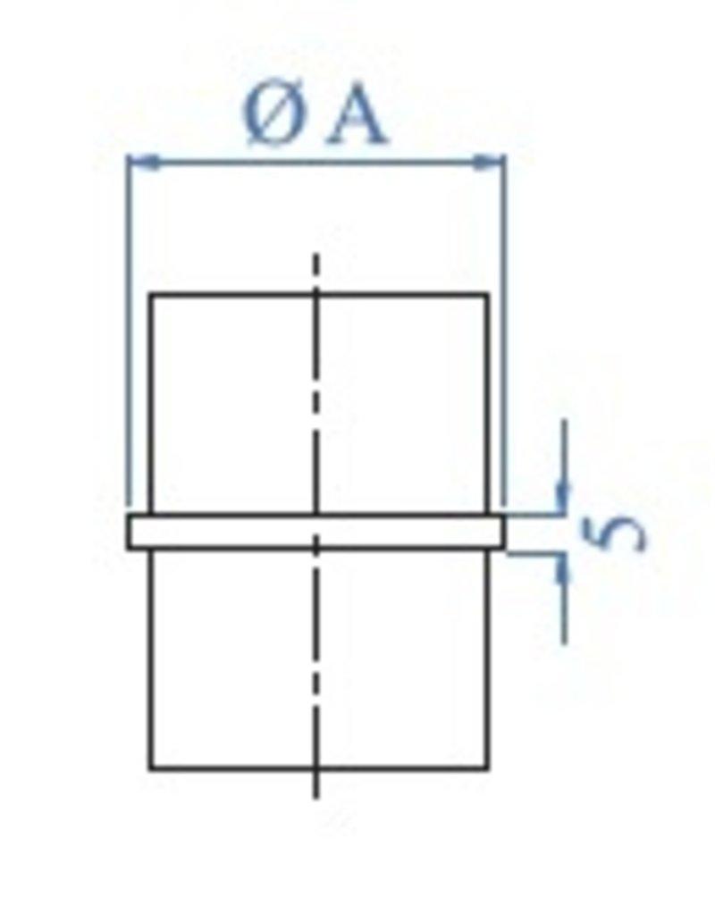 I AM Design Verbindingsstuk  voor buis geslepen V2A lijmmodel