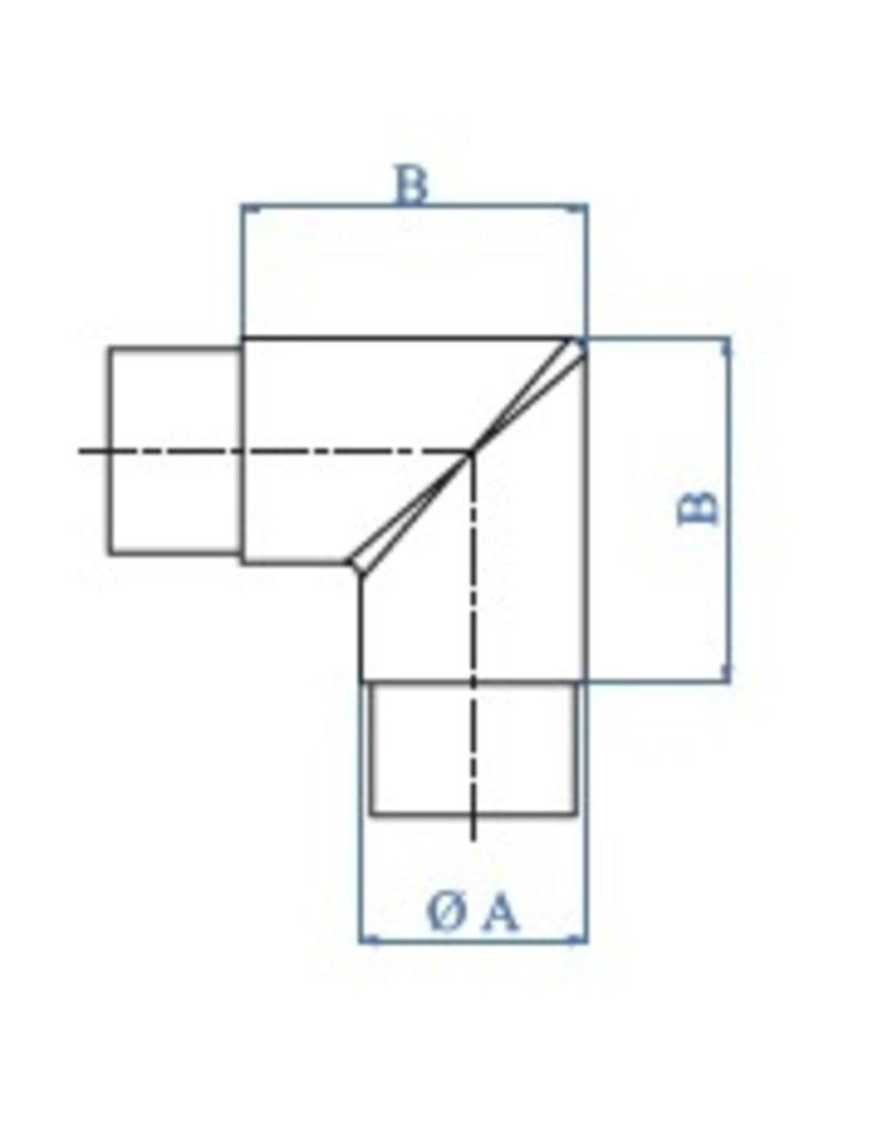 I AM Design Raccord poli 90° V2A différents diamètres possible
